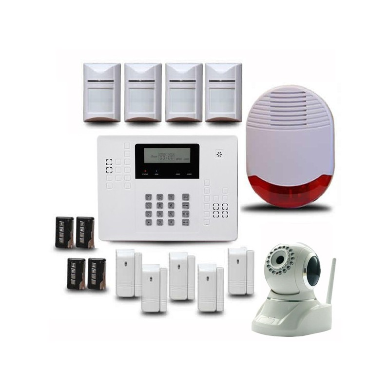 Alarme maison sans fil optium ka540 avec cam ra ip de for Alarme infrarouge maison