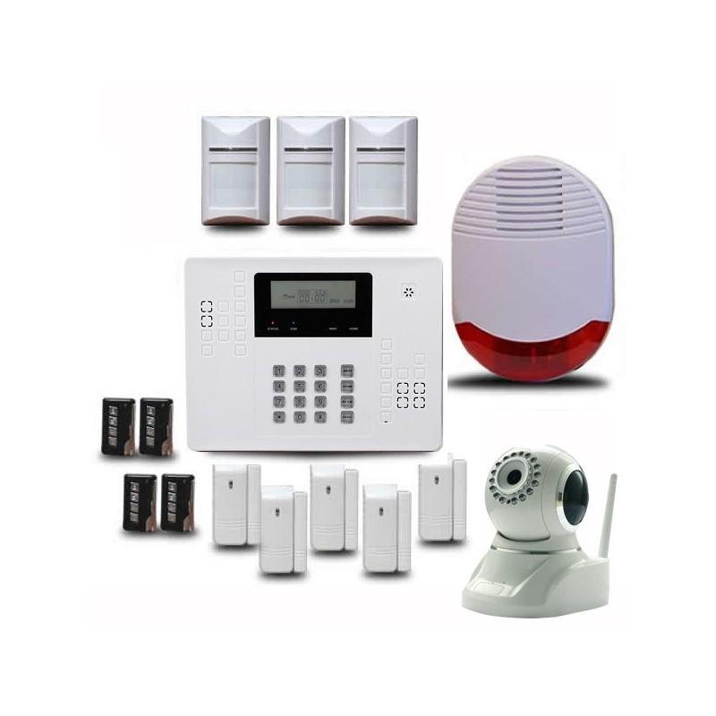 Alarme maison sans fil optium ka440 avec cam ra ip de Alarme sans fil avec camera