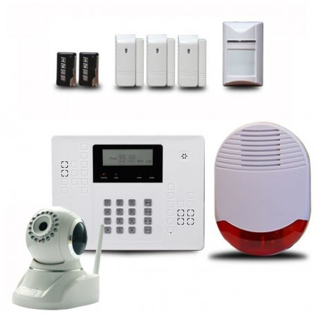 Alarme maison sans fil optium ka440 avec cam ra ip de for Alarme infrarouge maison