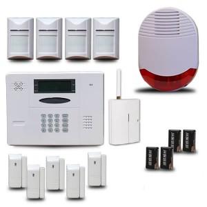 Test d'une alarme sans fil avec commande à distance