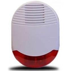 Sirène gyrophare à piles pour alarme maison sans fil Optium
